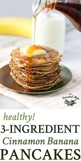 healthy 3 ingredient banana pancakes