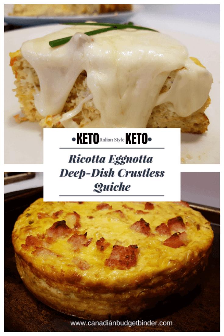 Keto egg quiche