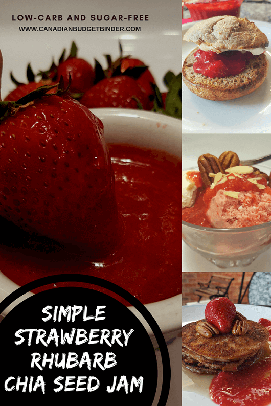 SIMPLE STRAWBERRY RHUBARB CHIA SEED JAM