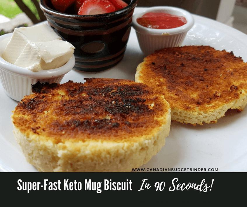 ketogenic microwave mug biscuit
