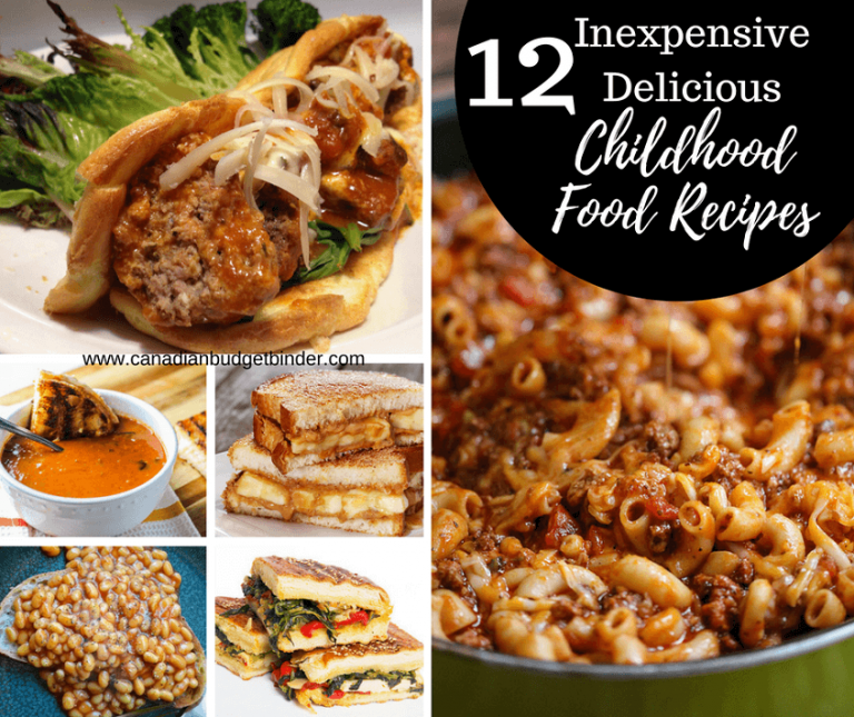 12 Delicious Inexpensive Childhood Food Recipes