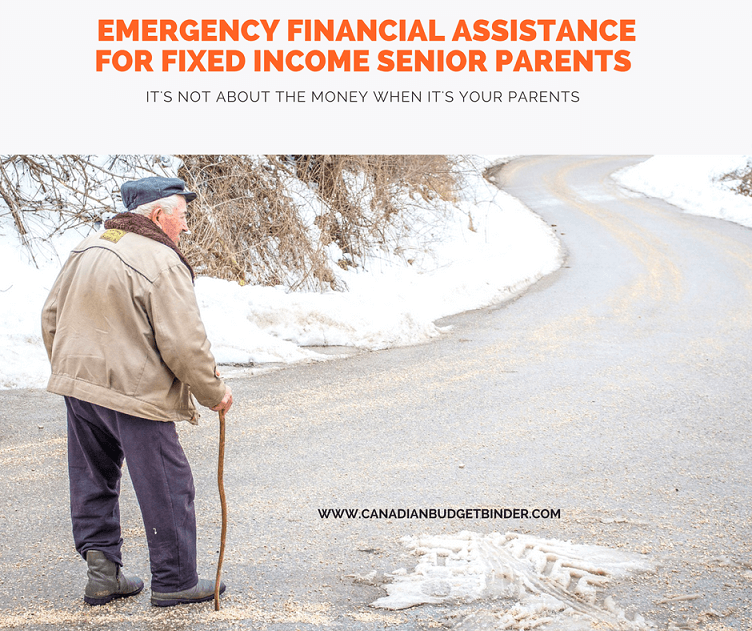 emergency financial assistance for fixed income senior parents