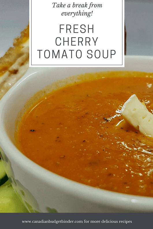 Tomato Cherry Soup Recipe