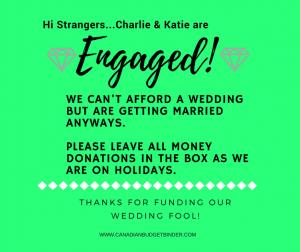 money donations wedding