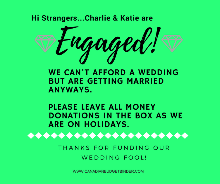 If You Need Wedding Donations You Can't Afford To Get Married : The Saturday Weekend Review #238