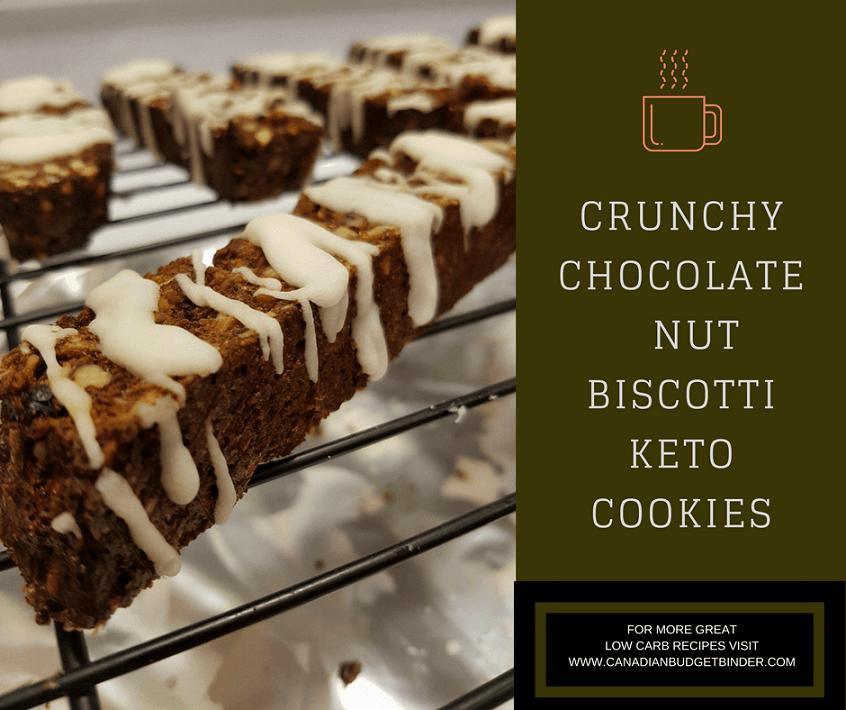 Keto Cookies: Crunchy Chocolate Nut Biscotti (Sugar-Free ...