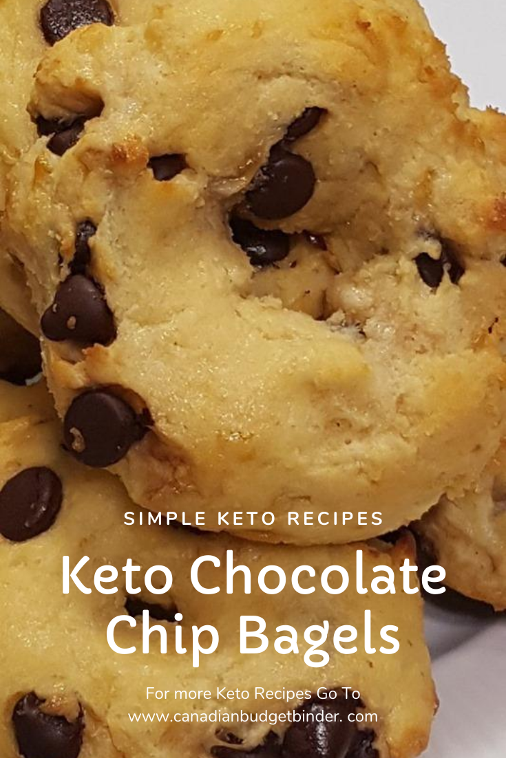 keto chocolate chip bagels