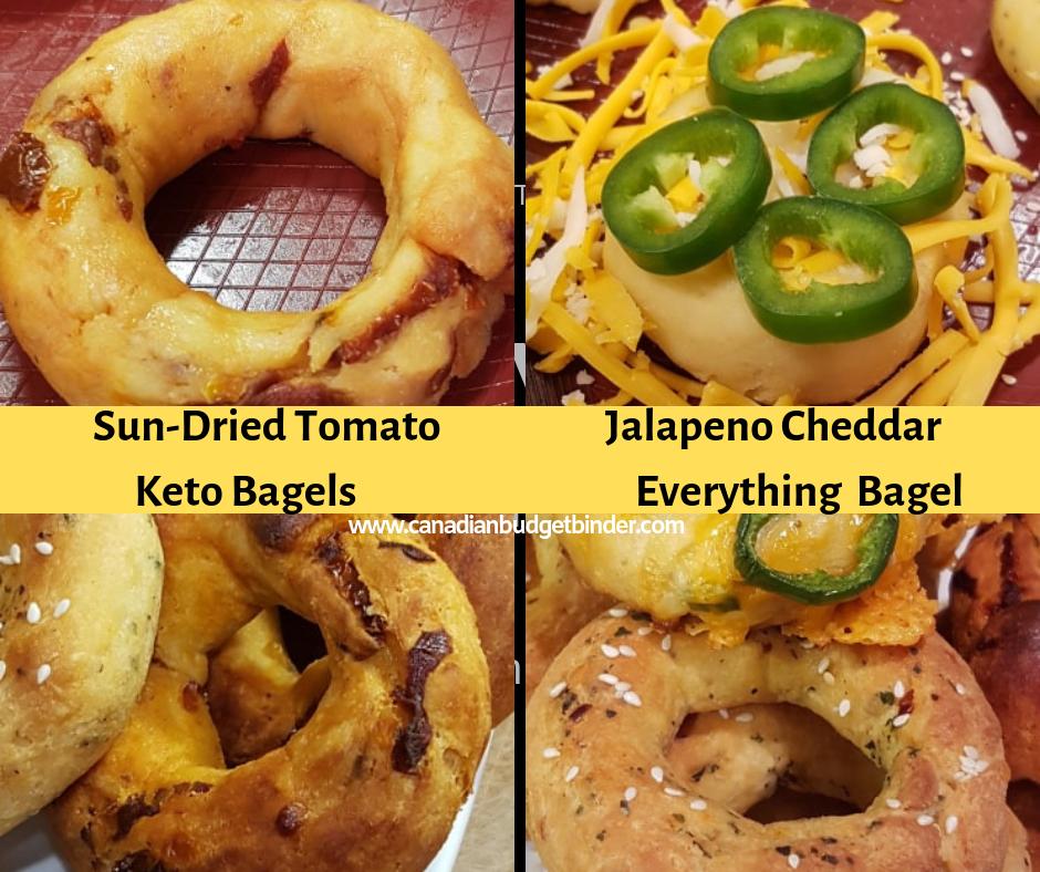 Keto bagels flavours