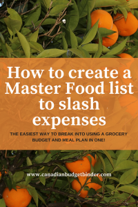 How to create a master food list to slash expenses main