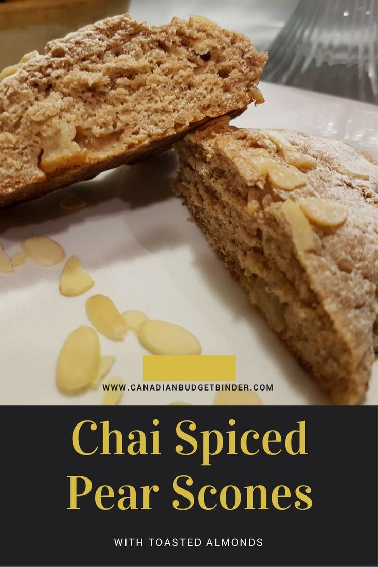 chai spiced pear scones PINT
