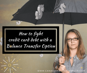 how to fight credit card debt with a balance transfer option