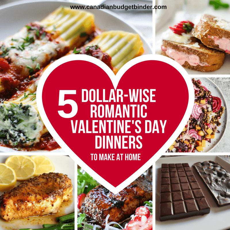 5 Dollar-Wise Romantic Valentine's Day Dinner Ideas : The