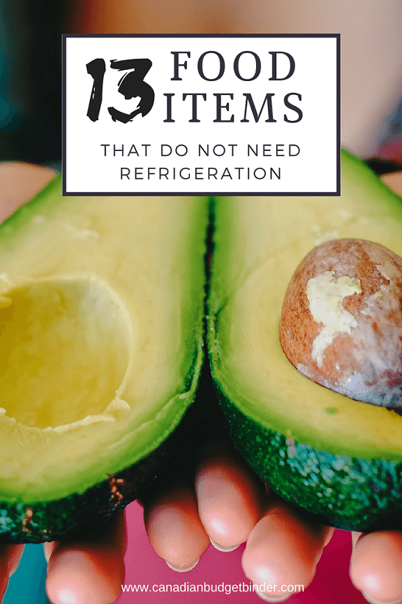 13 food items that do not need refrigeration