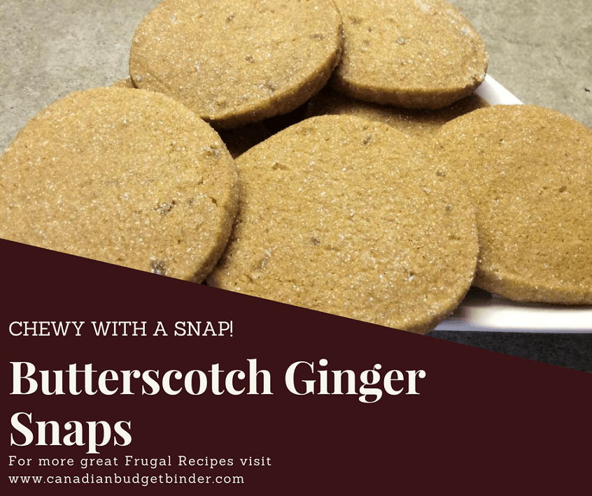 Chewy with a Snap Butterscotch ginger snaps cookies fb