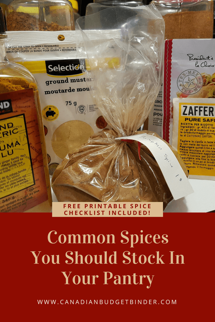 It is a picture of Hilaire Spice List Printable