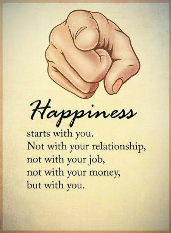 happiness starts with you relationship quote