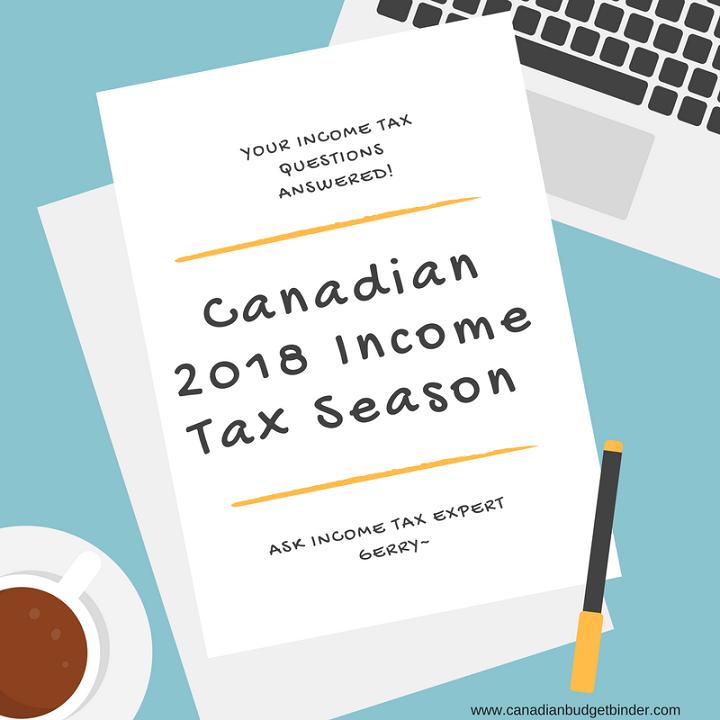 Canadian 2018 Income Tax Season