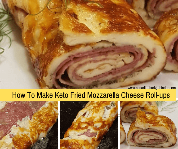 Keto Fried Mozzarella Cheese Roll-ups