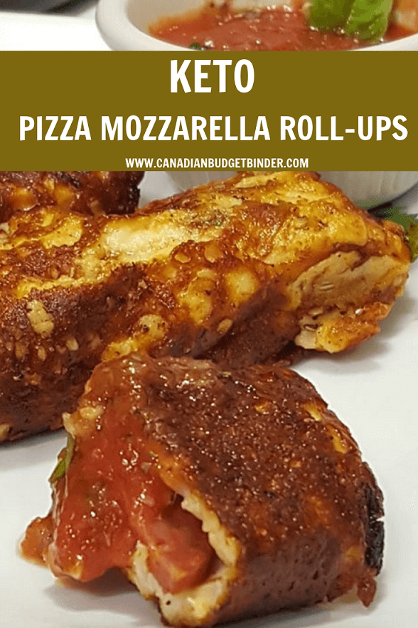 KETO PIZZA MOZZARELLA ROLL-UPS