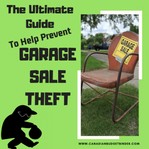 The ultimate guide to prevent garage sale theft