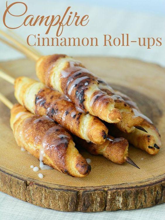 campfire cinnamon rollups