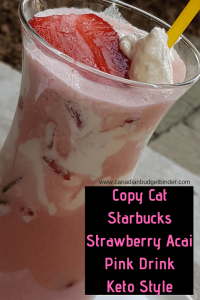 copycat starbucks pink drink keto