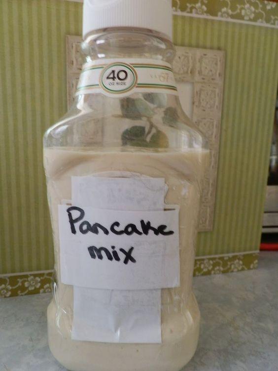 pancake mix camping hack