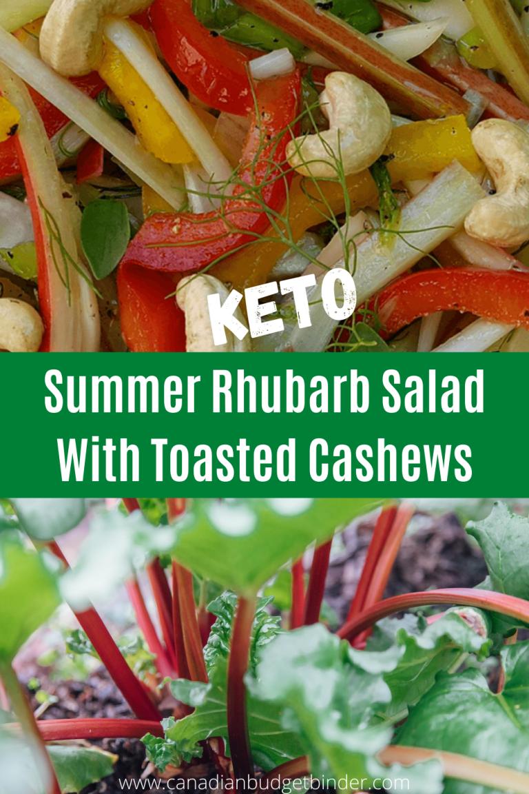 Keto Rhubarb Salad with Toasted Cashews
