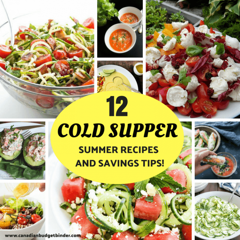 12 Cold Supper Summer Recipes And Savings Tips : The GGC 2018 #4 June 25-July 1