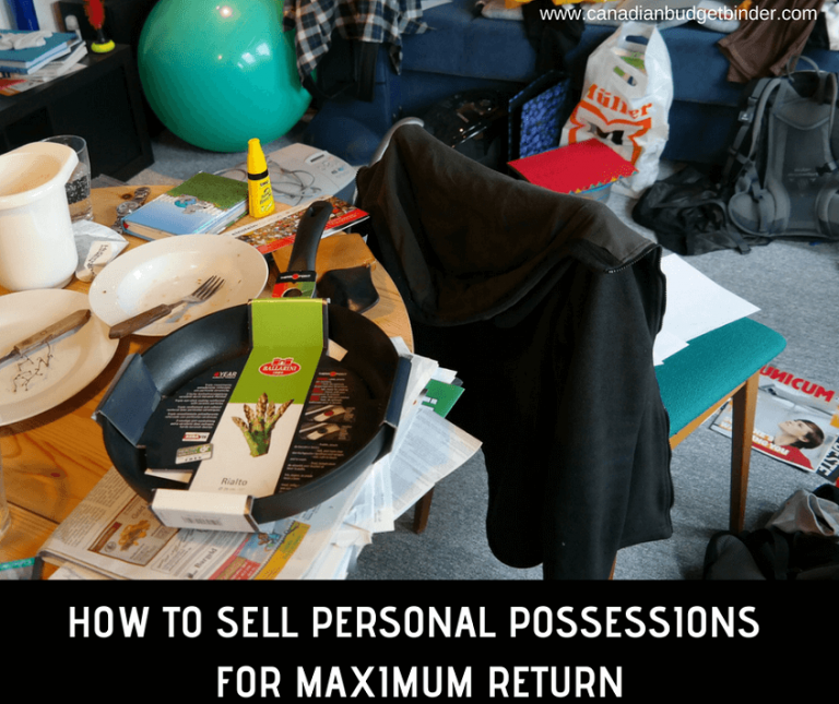How To Sell Personal Possessions For Maximum Return