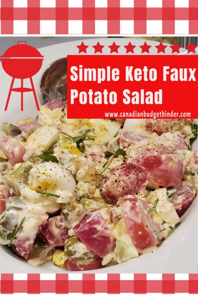 Keto Creamy Radish Potato Salad