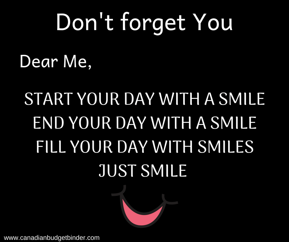 fill your day with smiles quote