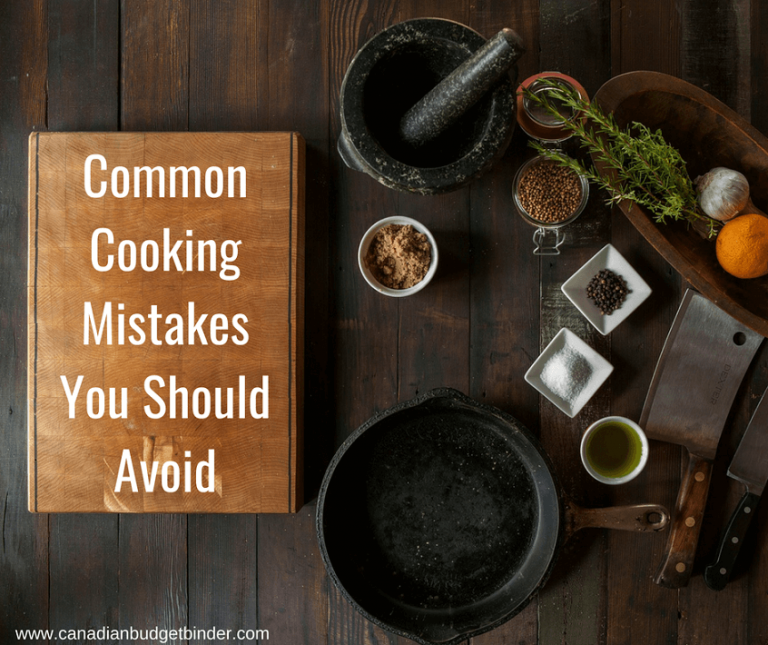 Common Cooking Mistakes You Can Easily Avoid : The GGC 2018 #2 Aug 6-12