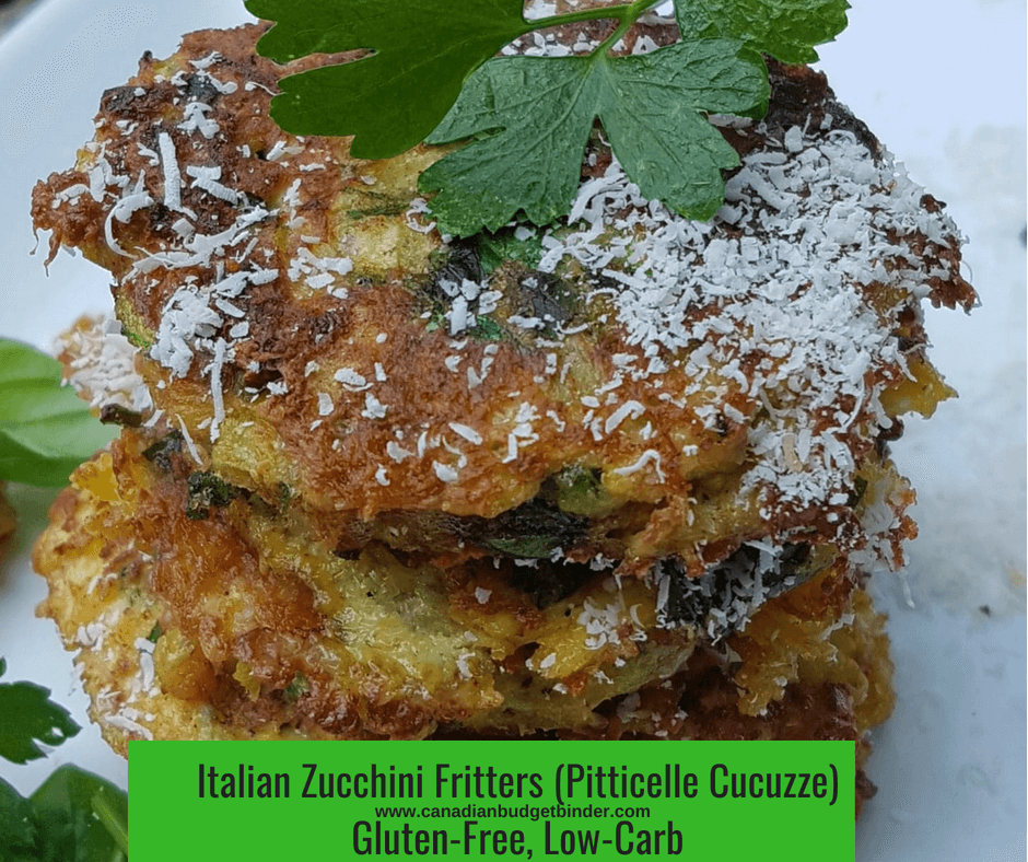 Italian Zucchini Fritters Gluten-Free, Low-CarbPitticelle Cucuzze