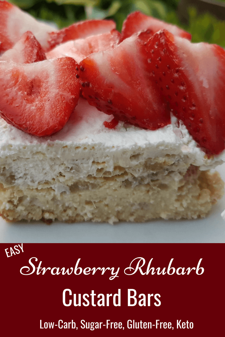 Strawberry Rhubarb Custard Bars Keto Gluten-free Sugar-free 2
