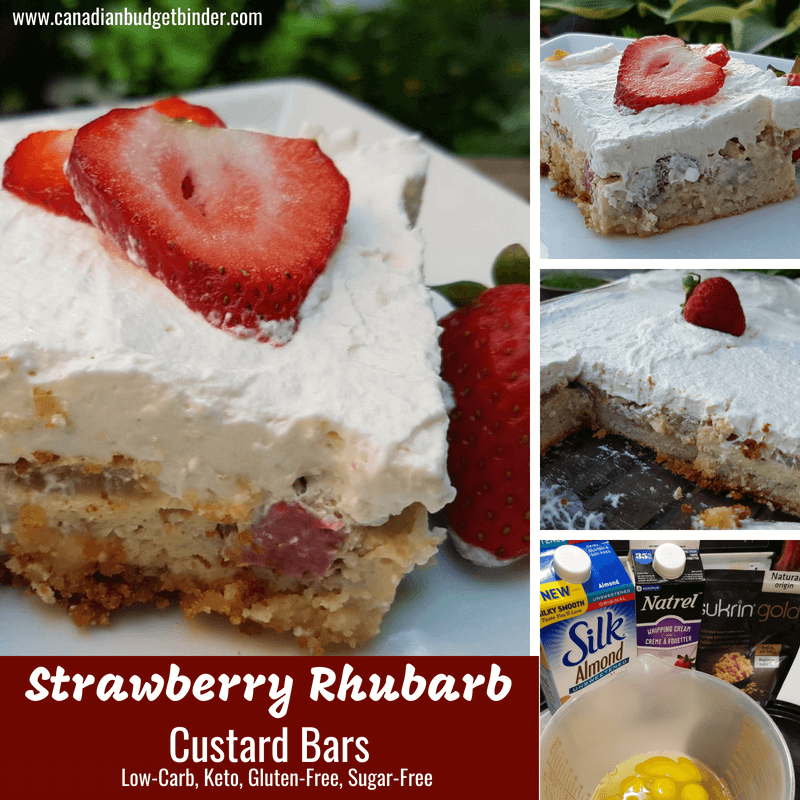 Strawberry Rhubarb Custard Bars Keto Gluten-free Sugar-free 4
