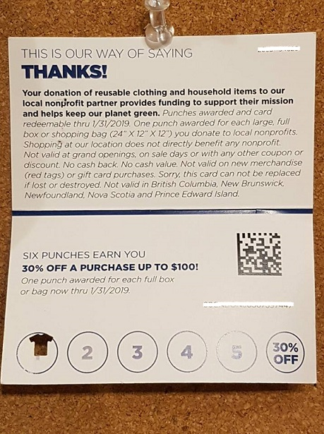 Value Village customer appreciation card 3