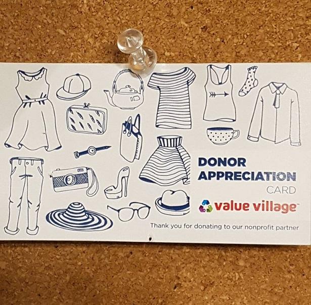 Value village appreciation card 2