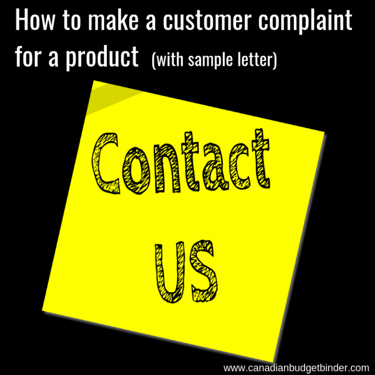 How To Make A Customer Complaint For A Product  (sample letter)