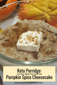 Keto Porridge_ Pumpkin Spice Cheesecake