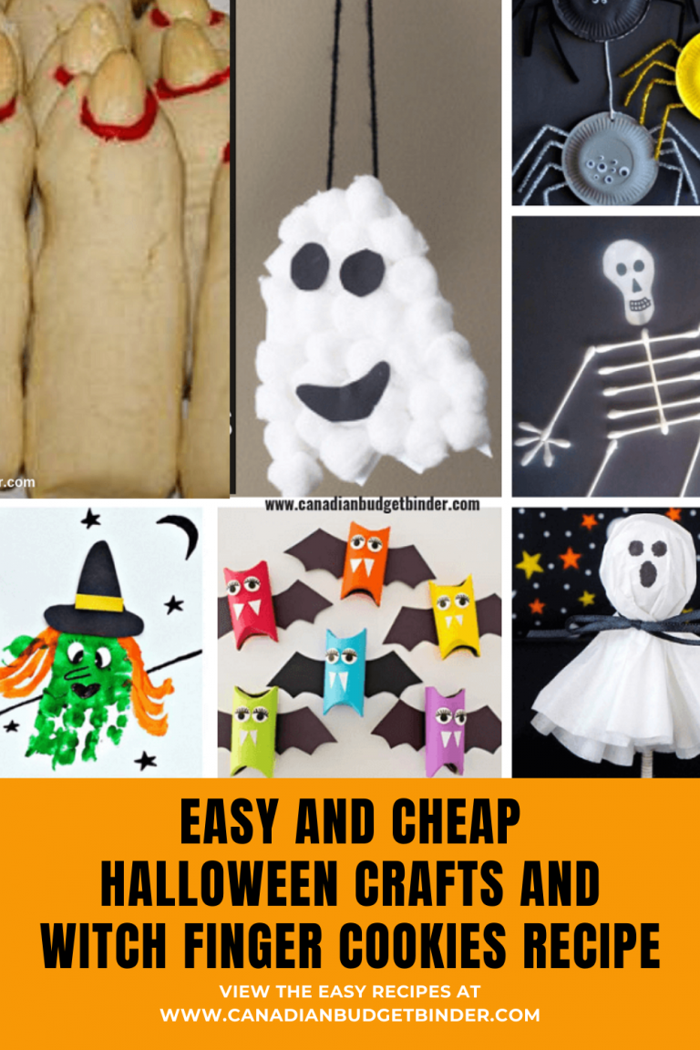5 CHEAP And EASY Halloween Crafts For Kids