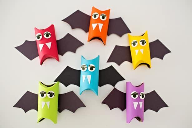 rainbow Halloween Bat crafts Halloween