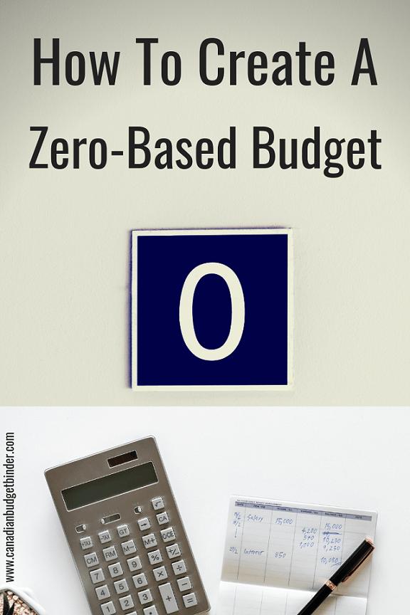 how to create a zero based budget v1.