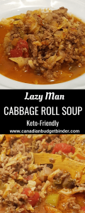 Lazy Man Ground Beef Cabbage Roll Soup Keto