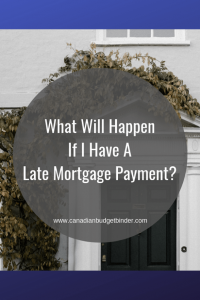 what will happen if I have a late mortgage payment in Canada