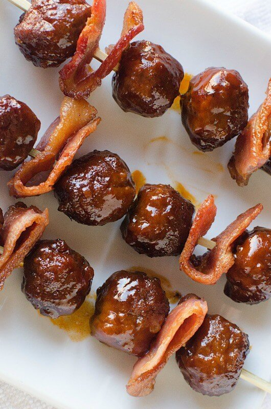 Maple-Bourbon-Bacon-Meatballs