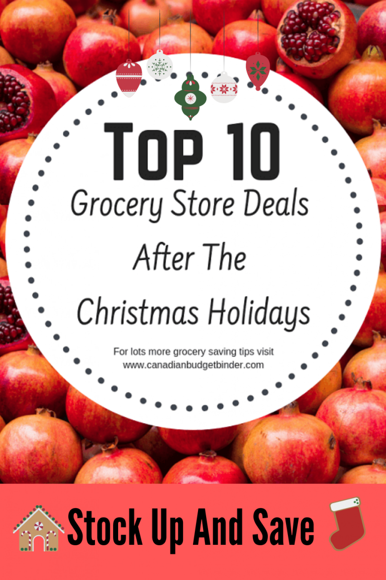 Top 10 Grocery Store Deals After The Christmas Holidays