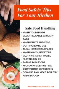 FOOD SAFETY TIPS FOR YOUR KITCHEN SAFE FOOD LHANDLING