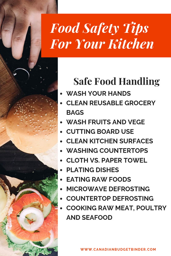 Food Safety Tips And The Impact To Your Budget (Free Printable)