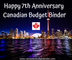 Happy 7th Anniversary Canadian Budget Binder